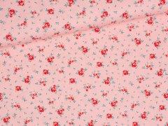Baumwolle - Rosen - rosa