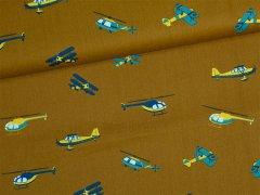 Baumwolle - in the air - Flugzeuge - Hubschrauber - braun