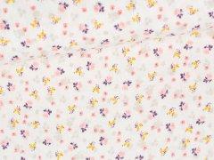 Musselin - Double Gauze - Blumen - weiß