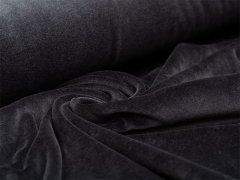 Reststück 1m - Nicki - schwarz - uni