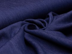 Reststück 0,80m - Jeans - melange - blau - lila