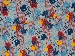 Jersey Single - Hände - Stenzo - grau meliert - blau - rot - gelb