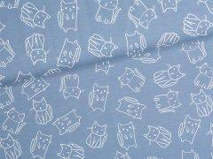 Jersey Single - Katzen - blau