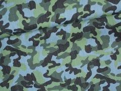 Jeans - Camouflage - blau - grün