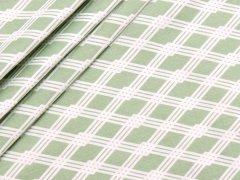 Baumwolle - Rauten - Stenzo - grün - weiß