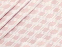 Baumwolle - Rauten - Stenzo - rosa - weiß