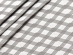 Baumwolle - Rauten - Stenzo - grau - weiß