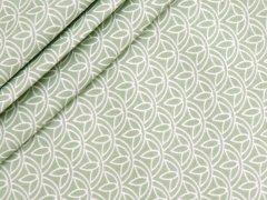 Baumwolle - Floral - Stenzo - grün - weiß