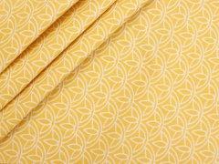 Baumwolle - Floral - Stenzo - gelb - weiß