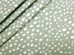 Baumwolle - Punkte - Stenzo - grün - weiß