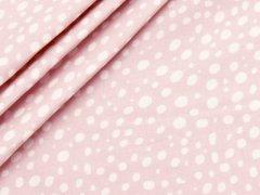 Baumwolle - Punkte - Stenzo - rosa - weiß