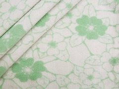 Fleece - Blumen - Stenzo - grün