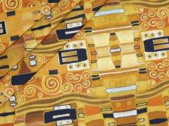 Jersey Single - Ornamente - Paar - Blumen - Stenzo - orange - braun