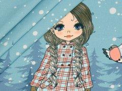 Jersey Single - Panel - Schneelandschaft - Mädchen - Stenzo - hellblau