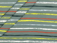 Jersey Single - Streifen - gelb - rot - hellblau - Stenzo - grüngrau