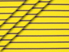 Sweat - Streifen - gelb - anthrazit