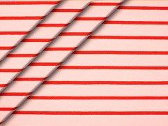 Reststück 0,55m - Sweat - Streifen - rosa - rot