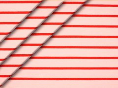 Sweat - Streifen - rosa - rot