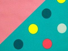 Softshell - Punkte - Dots - türkis