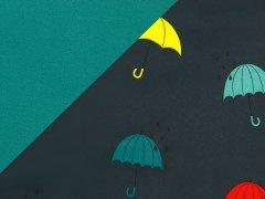 Softshell - Regenschirme - dunkelblau