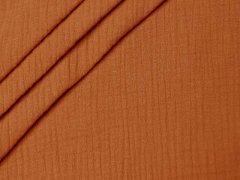 Reststück 0,85m - Musselin - Double Gauze - uni - orange