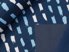 Canvas - beschichtet - Striche - dunkelblau