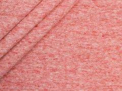 Bündchen Feinripp - uni - rot meliert