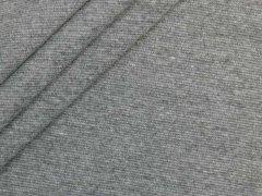 Bündchen Feinripp - uni - dunkelgrau meliert