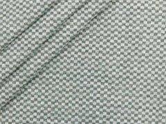 Bündchen Feinripp - Karo - dunkelgrau meliert