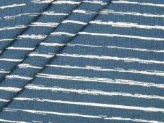Jersey Single - Vintage Streifen - jeansblau