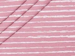 Jersey Single - Vintage Streifen - altrosa