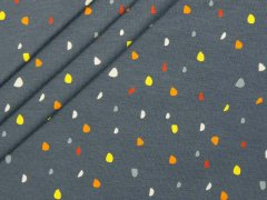 Jersey Single - Punkte - Dots - grau