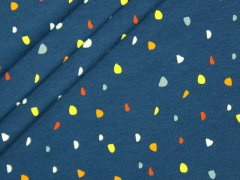 Jersey Single - Punkte - Dots - blau