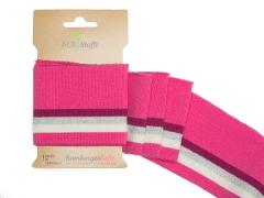 BIO Bündchen - Cuff me Glam - Glitzer - Albstoffe - pink