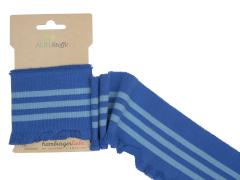 BIO Bündchen - Cuff me Frill - Rüsche - Albstoffe - blau - hellblau