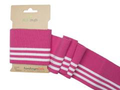 BIO Bündchen - Cuff me College - Albstoffe - pink - weiß