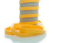 Kordel - 12mm - flach - gelb