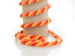 Kordel - 10mm - rund - rot - orange - gelb