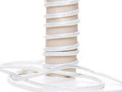 Kordel - 5mm - Glitzer - rund - weiß