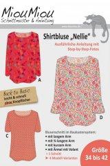 """Schnittmuster - Shirtbluse - """"Nellie"""" - V0806 - Miou Miou"""