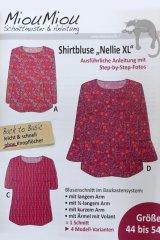 """Schnittmuster - Shirtbluse """"Nellie XL"""" - V0401 - Miou Miou"""