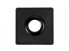 Patch - Quadrat - 11mm Öse - schwarz - schwarz 11mm