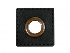 Patch - Quadrat - 11mm Öse - schwarz - altkupfer 11mm