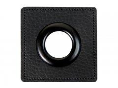 Patch - Quadrat - schwarz - schwarz  14mm