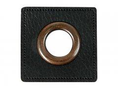 Patch - Quadrat - 14mm Öse - schwarz - altkupfer 14mm
