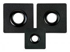 Patch - Quadrat - schwarz - schwarz