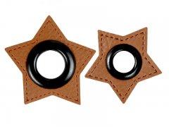 Patch - Stern - braun - schwarz