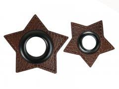 Patch - Stern - dunkelbraun - schwarz