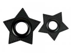 Patch - Stern - schwarz - schwarz