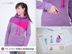 Schnittmuster - Freestyle Hoodie Nelly - pattydoo